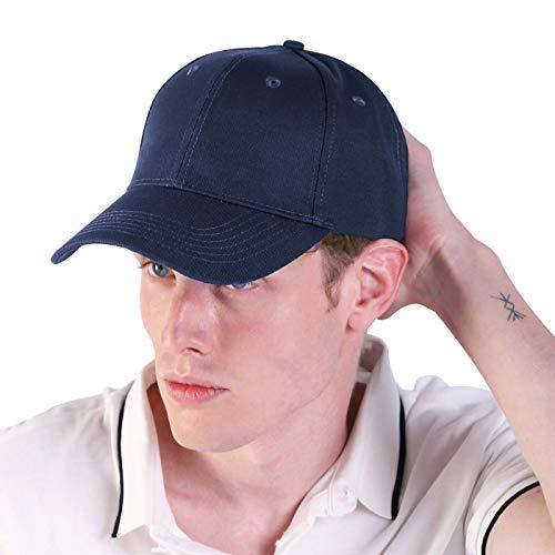 LIVACASA Baseball Cap Herren Verstellbar Basecap Luftlöchern Sonnenschutz Damen Baseballkappe Cap Unisex Mütze Baumwolle Cappy für Sport Reisen Draußen Dunkelblau