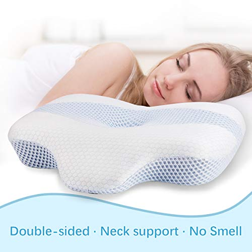 Oreiller en mousse à mémoire de forme,oreiller cervical avec support...