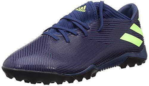 adidas Herren Nemeziz Messi 19.3 Tf Fußballschuhe, Lila (Tech Indigo/Signal Green/Glory Purple), 41 1/3 EU