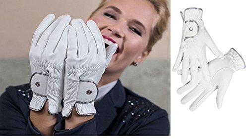 HKM Rękawiczki do jazdy konnej dla dorosłych -Silver Stream-9100 czarne 9 spodnie, 9100 czarne, 9