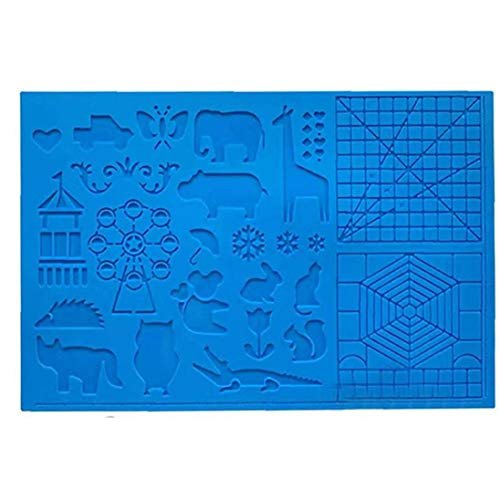 ZYCX123 La Pluma de Dibujo Tablero de Dibujo de la Pluma de Silicona 3D Mat 3D Pluma Plantillas 3D Libro Azul Herramientas