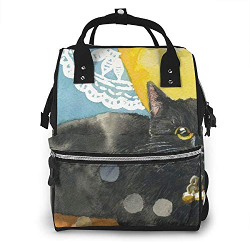 UUwant Sac à Dos à Couches pour Maman Diaper Bag,Versatile Stylish and Durable, Suitable for Mom and Dad,Cat Kitty Kitten Adorable