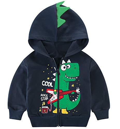 Garsumiss Kids Hooded Jungen Pullover Dinosaurier Sweat Shirt Headwear Jacke