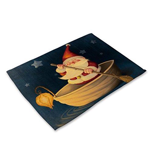 Décorations de Noël,Fulltime®1pc Bol table de billard tapis de Noël décoration (D)