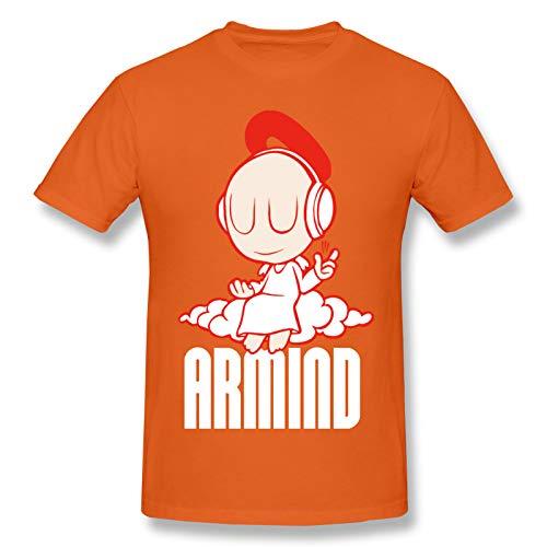 WJSDOWOWEN Armin Van Buuren süßes Herren-T-Shirt, kurzärmelig, klassisch, Naturorange, Größe XL