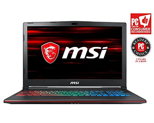"MSI GP63 Leopard-602 (8th Gen Intel Core i7-8750H, 8GB DDR4 2666MHz, 1TB HDD, Nvidia GeForce GTX 1060 6GB, 15.6"" Full HD 120Hz 3ms Display, Windows 10 Home) VR Ready Gaming Laptop"