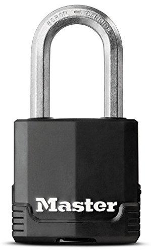 Master Lock 【正規輸入品】 カバー式シリンダー式南京錠(プロ仕様) 鍵4本付 M115JADLF