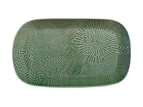 Maxwell & Williams Panama - Piatto da portata grande, in porcellana, 39 x 23 cm, colore: Verde kiwi