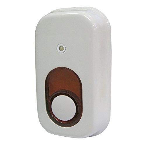 Utilitech 85-Decibel Wireless Indoor Siren Works with Iris