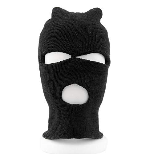 ArgoBa Estilo de Moda Negro Pasamontañas SAS CS Estilo Viento de Invierno Sombrero de esquí para Hombres Mujeres Cap 3 Hoyos Máscara Cuello Más cálido Ropa