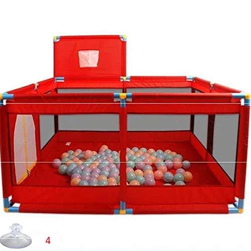 Azul Oscuro-Rojo Lionelo Thomi Cuna de Viaje y Parque Infantil Arco de Juegos interactivos Cambiador Ruedas con Bloqueo Apertura Lateral LockGuard Bolsa de Transporte