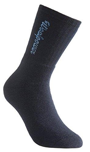 Woolpower 400 Socks Logo - Thermo Socken, dark navy blue, 36-39