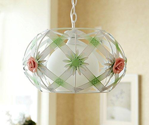 William 337 Restaurant Round Flower Lamp/Salon/Chambre à coucher/Étude/Rose Single Head Pendant Lamp (Couleur : Rose)