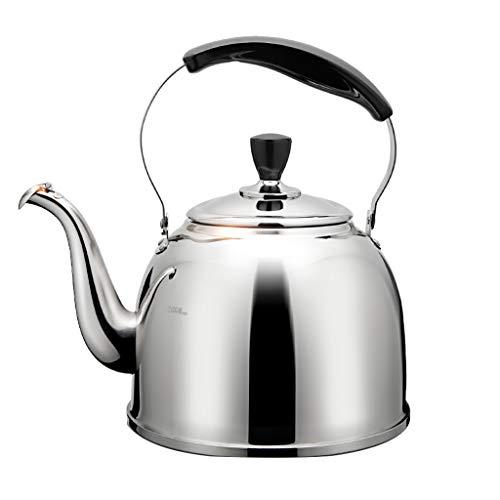 En acier inoxydable 304 haute qualité Whistle sur la cuisinière bouilloires 3L / 4L / 5L cuisinière à induction cuisinière à gaz universel (taille : 3L)