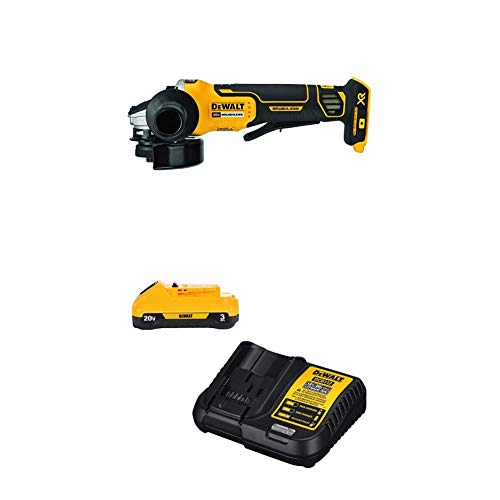 DEWALT 20V MAX XR Brushless Cut Off/Grinder Tool with 3Ah Battery & Charger Kit (DCG413B & DCB230C)