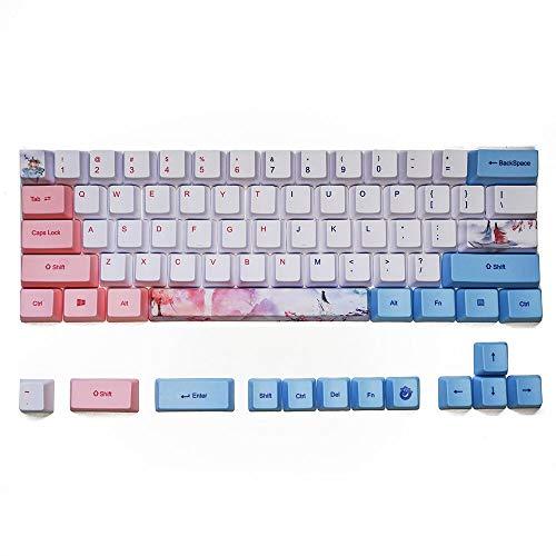 Juego de teclas PBT de 73/125 teclas para teclados mecánicos de 64/68/84/87/104 teclas (73 teclas)