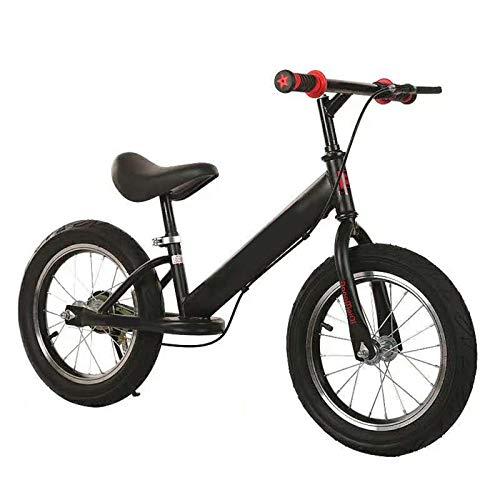 Bicicleta Sin Pedales Equilibrio 14 'Niños Bicicleta de Equilibrio con Frenos, 3 4 5 6 Años Entrenamiento para Niños Pequeños Bicicleta de Empuje con Asiento y Manillar Ajustables, Inflado de Neumátic