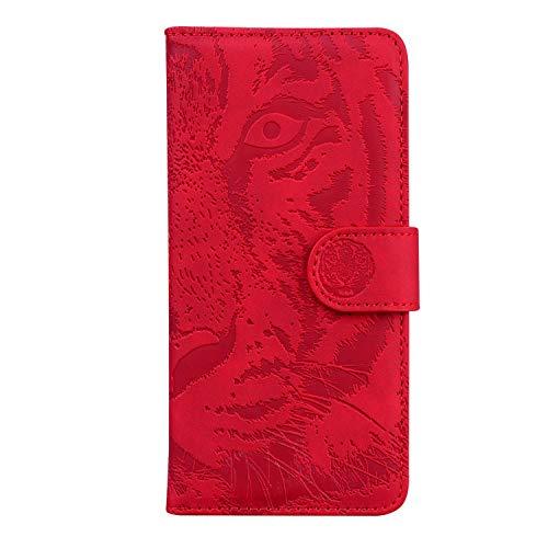 Hülle für Xiaomi Redmi 7 Handyhülle Schutzhülle Leder PU Wallet Bumper Lederhülle Ledertasche Klapphülle Klappbar Magnetisch für Xiaomi Redmi 7 - ZITX010719 Rot