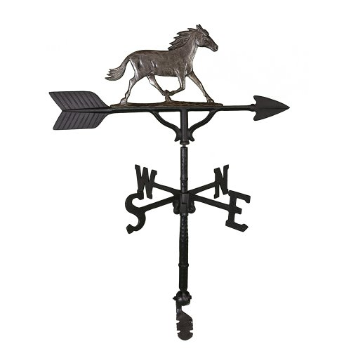 Montague Metal Products 32-Inch Weathervane with Swedish Iron Horse Ornament