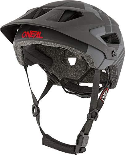 O'NEAL | Mountainbike-Helm | Enduro All-Mountain | Belüftungsöffnungen für Kühlung, Polster waschbar, Sicherheitsnorm EN1078 | Helmet Defender Nova | Erwachsene | Schwarz Grau | Größe S/M