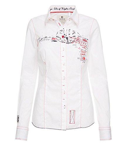 Preisvergleich Produktbild SOCCX Damen Baumwollbluse mit vielen Artworks