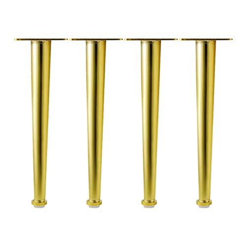 ZXL Meubelsteunvoet, goud, verticale metalen sofapoten 4 x meubelpoten, stevig gelast/draagbare kussen, tafelpoten, kaststeunpoten