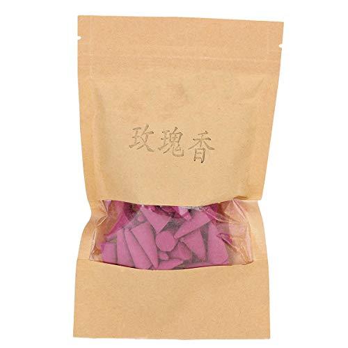 MJJEsports 50 Stks/zak Backflow wierook brander kegels jasmijn thee citroen roos sandelhout agilawood geurig, Roos, 1