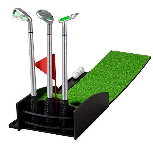 Brightz Regalos Oficina de Cultura y Educación de Golf de Escritorio Poner Ejercicio Conjunto acrílico Golf Club Trainer Elegante y Hermosa