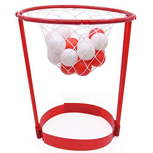 Kisshes Basketball-Spiel Basketballkorb Kinderspiel Wurfspiel Outdoor Spiel Sets für den Kopf Hoop Spielzeug mit 20 Bällen