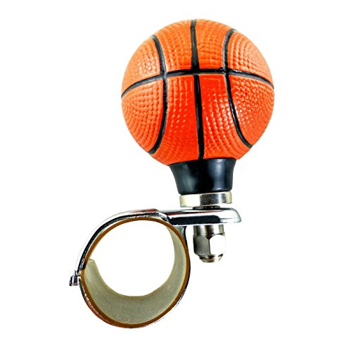 Lunsom Basketball Steering Wheel Booster Resin Driving Power Handle Knob Control Grip Suicide Spinner Aid Vehicle Turning Helper Fit Most Car