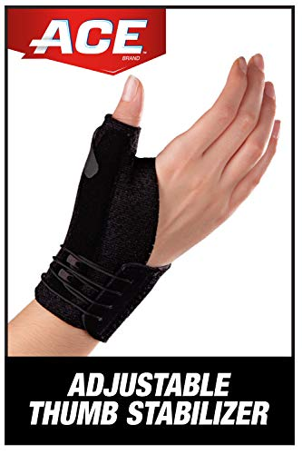 ACE Adjustable Thumb Stabilizer, Provides support to sore, weak or injured thumb, Money Back Guarantee