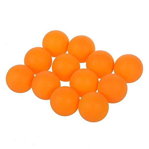 TOOGOO (R) - Pelotas de tenis de mesa Ping Pong- Deportivas, en plástico naranja, bolas de 40mm de diámetro - 12unidades