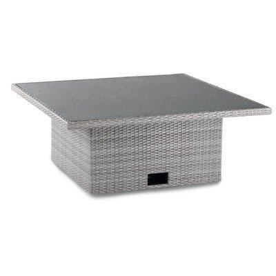 BEST Lounge-Tisch Barcelona, 120 x 120 x 43/66 cm, grau