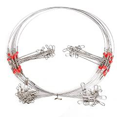 Package Content: Stainless Steel Fishing Wires Rigs 20PCS, Length 27.5INCH (2 Arms) Main leader tested is about 35kg/90lb,arms tested about 23kg/55lb Made of High-strength Stainless Steel and Abrasion Resistant,Into the sea is not easy to rust. Long ...