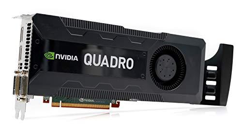 NVIDIA GPU Quadro K5000 - Tarjeta gráfica profesional con memoria GDDR5 de 4 GB, SDRAM, PCI Express x16, ATX, GPU, PC, color negro
