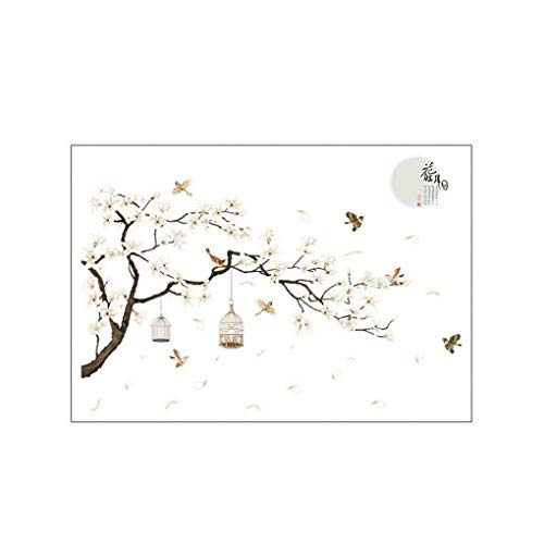 Kineca Flower Tree Bird Cage DIY Wall Stickers Wall Decals Poster Bedroom Hall Mural Decoration Decor