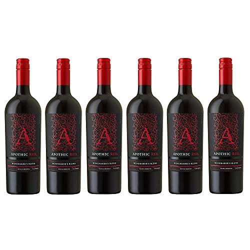 Apothic Red Winemaker's Blend Rotwein Wein halbtrocken Kalifornien (6 Flaschen)
