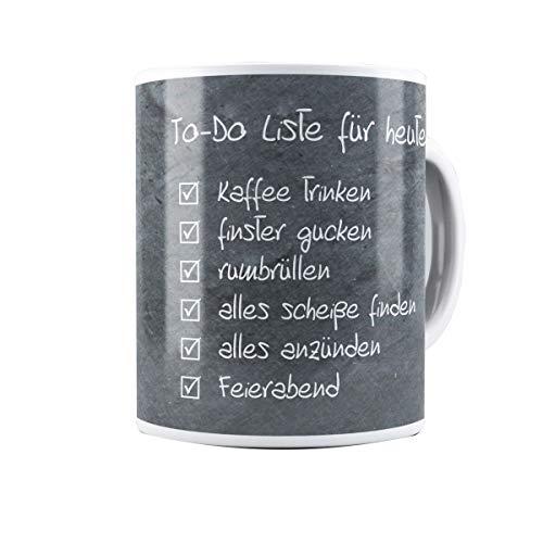 Creativgravur® Kaffeetasse Kaffeebecher - To-Do Liste - das perfekte Geschenk für Arbeitskollegen oder Chefs und Vorgesetzte