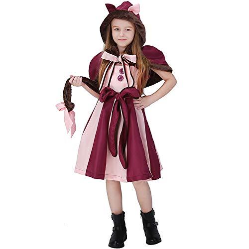 Qy Kinder Halloween Dress Up, Alice Im Wunderland Smiley Cat, Cosplay Kostüm, Bühnenspiel, Festival Performance Kostüm