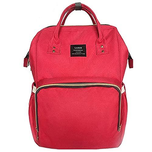Baby Wickeltasche, Ticent Multifunktions Wasserdichter Reiserucksack Umhängetasche Windelbeutel Windel Taschen für Baby-Pflege, große Kapazität (Rot)
