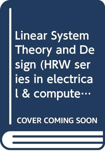 Livres De Chi Tsong Chen Pdf Telecharger Linear System Theory And Design Lire Pdf Linear System Theory And Design