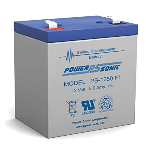 HQMelectronicsparts Supplies for Power-Sonic 12V 5AH SLA Battery Replacement for Radio Shack 23-289B