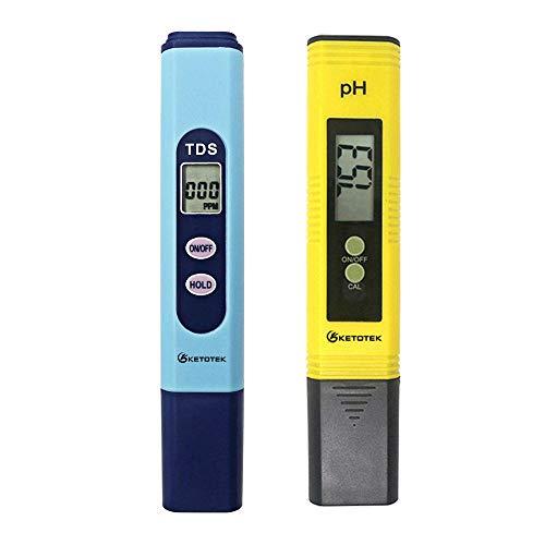 Medidor de PH Digital 0.00-14.0 Calibración automática Probador de TDS 1-9990PPM Sonda de Titanio Monitor de Prueba de Calidad del Agua Piscina de Acuario TDS_and_PH_Meter