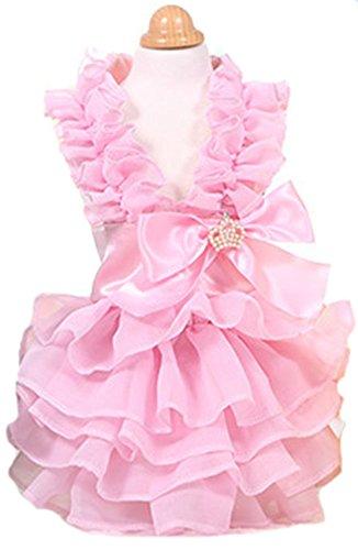 MaruPet Elegant Princess Lace Hollow Dress
