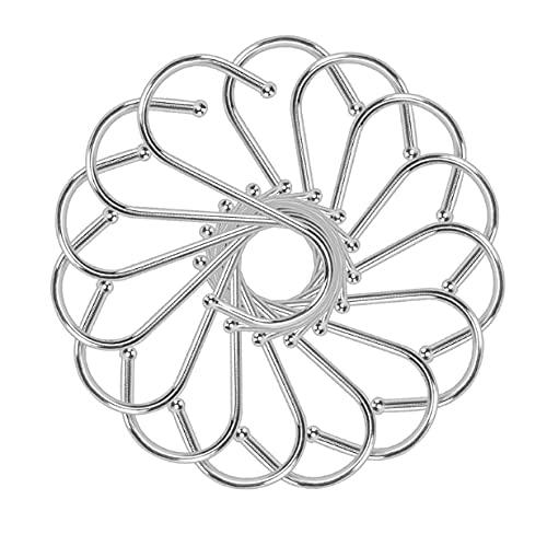 15 Stück S förmige Haken Edelstahl-Metallbügel Hängende Haken für Küche, Werkstatt, Badezimmer, Garten (Mittlere 15 Stück)