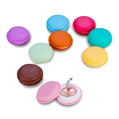 Mini Macaron Kosmetiktasche Tasche Ohrhörer Schmuck Medikamente Ring Ohrringe Aufbewahrungsbox 9 verschiedene Farben