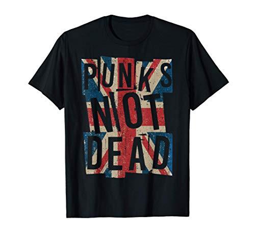 Punks Not Dead - Vintage - UK London Flag - Punk Is...