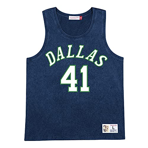 Mitchell & Ness NBA Acid Wash Canottiera, Dallas Mavericks, XXL
