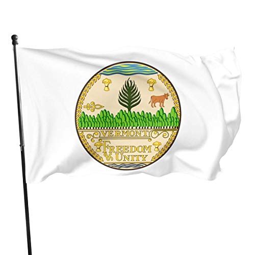 Viplili Banderas, Vermont Flag Outdoor Flags 100% Single-Layer Polyester 3x5 Ft