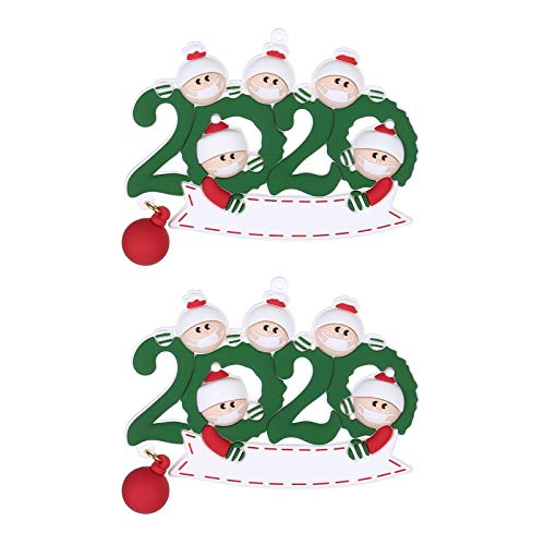 BBQQ Personalized Survived Family of Ornament 2020 Christmas Holiday Decorations 2PC, Christmas Decorations Tree Ornaments Skirt Topper Lights Pajamas for Family